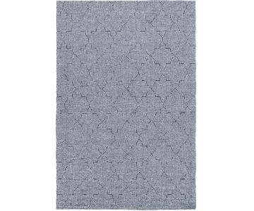 Surya Etching Blue Wool Textured Rug