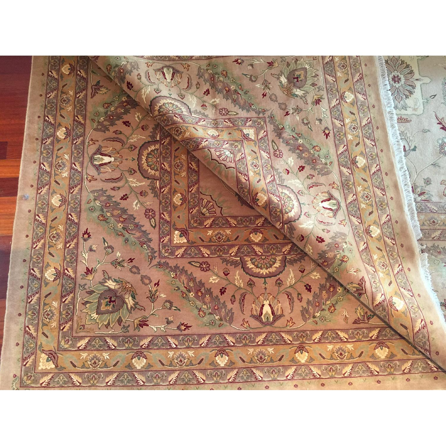 Hand Knotted Silk & Wool Blended Persian Carpet - image-1
