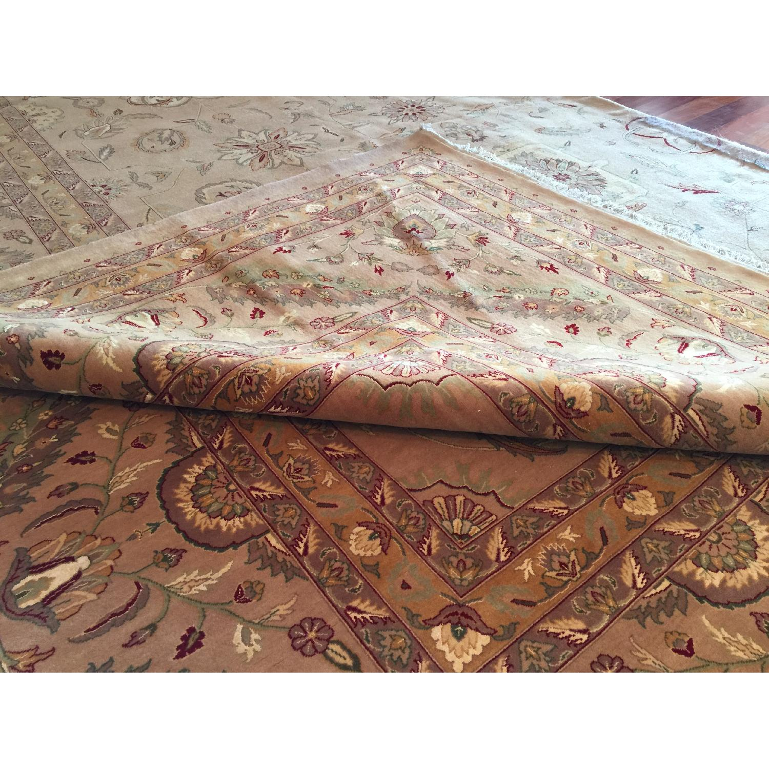 Hand Knotted Silk & Wool Blended Persian Carpet - image-2