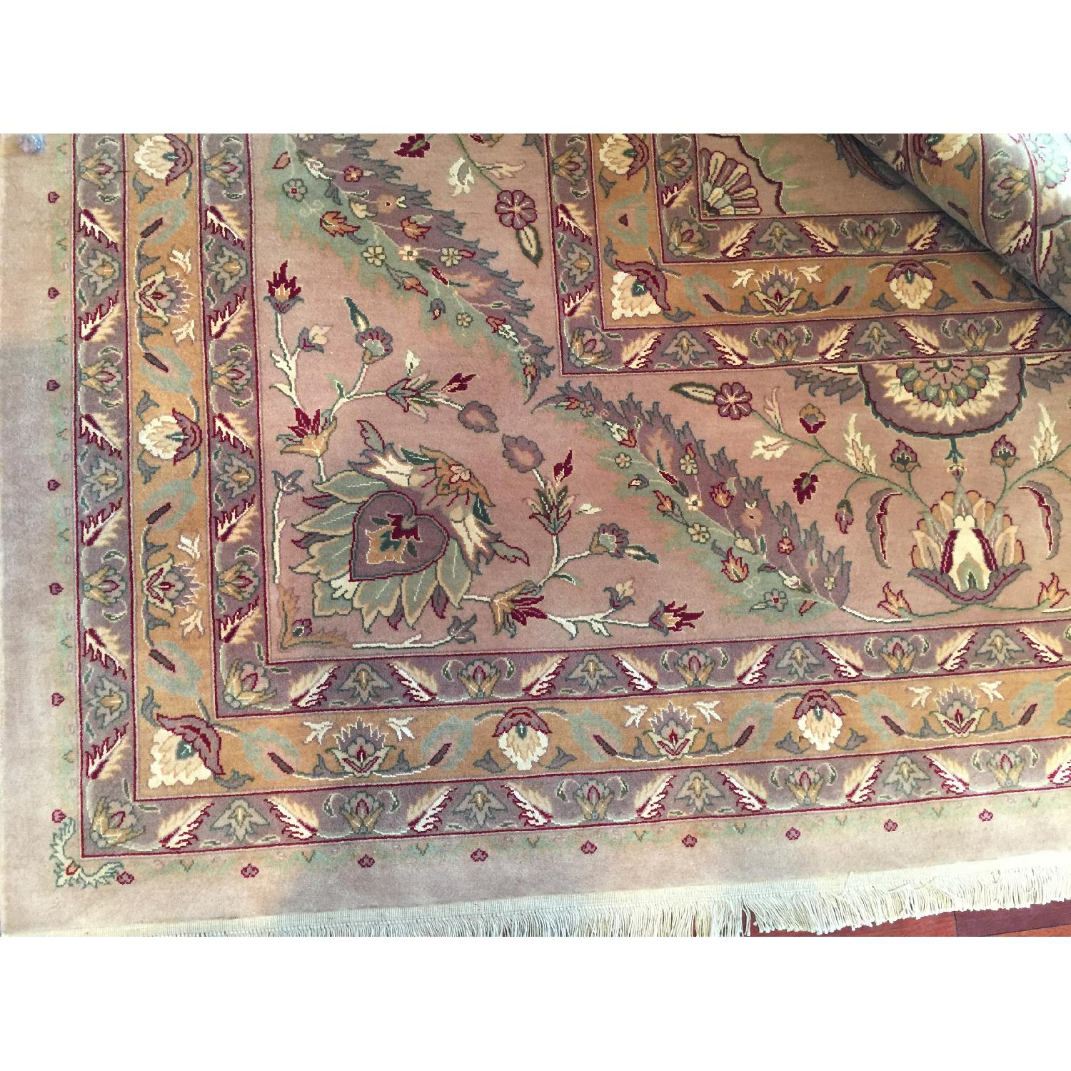 Hand Knotted Silk & Wool Blended Persian Carpet - image-3