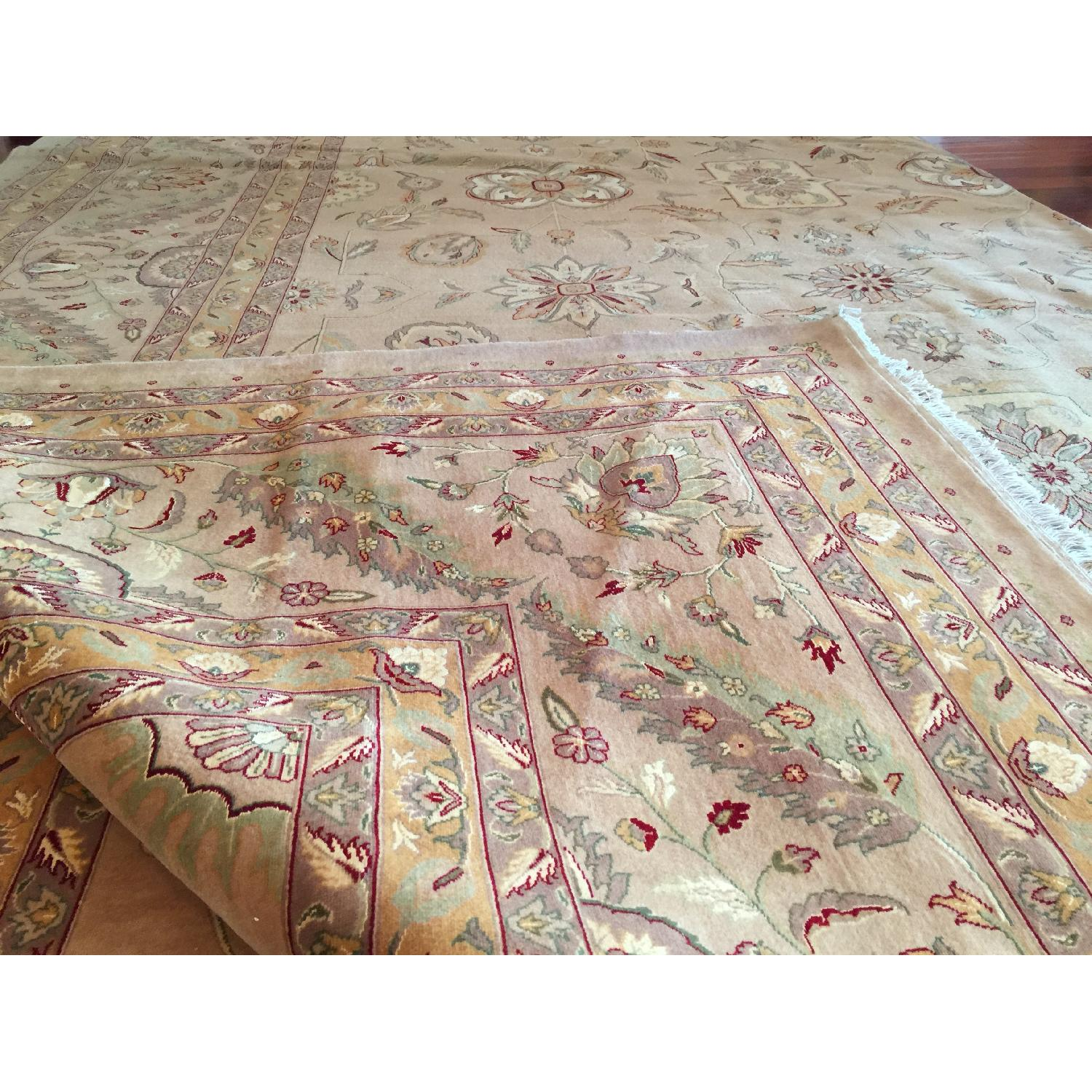 Hand Knotted Silk & Wool Blended Persian Carpet - image-4