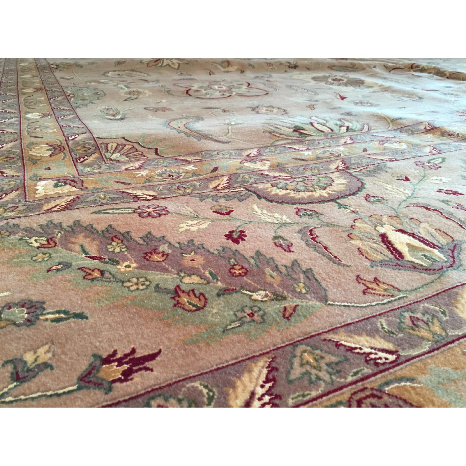 Hand Knotted Silk & Wool Blended Persian Carpet - image-6