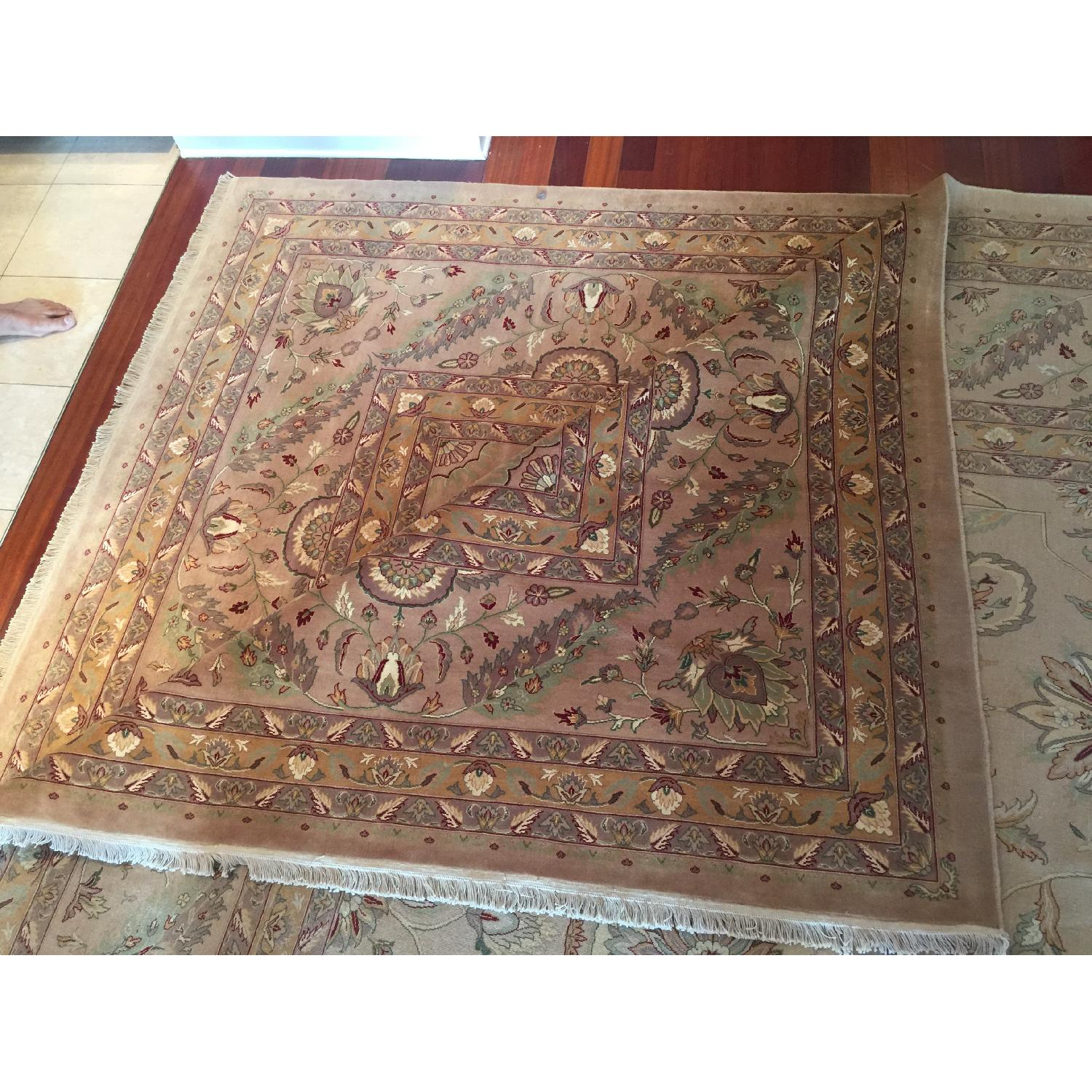 Hand Knotted Silk & Wool Blended Persian Carpet - image-7