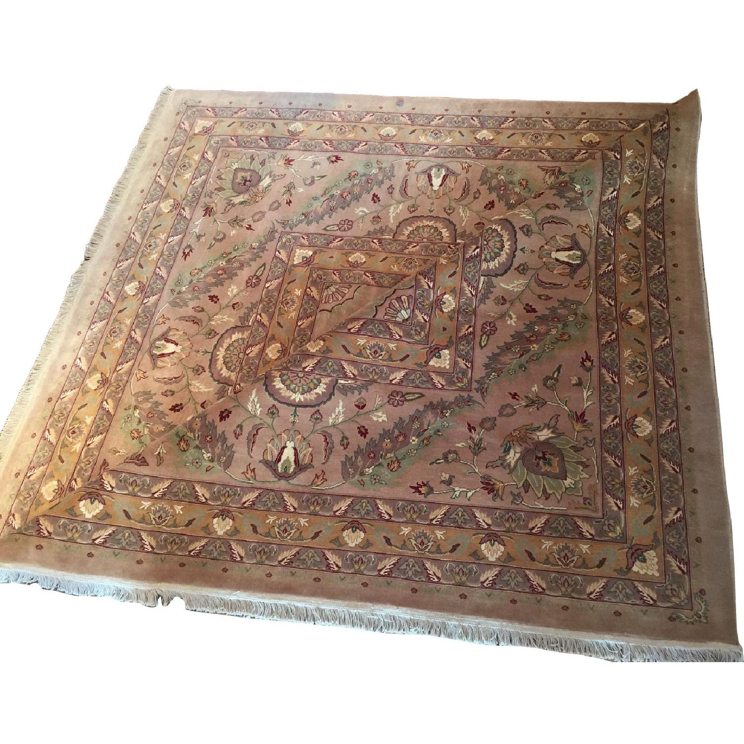 Hand Knotted Silk & Wool Blended Persian Carpet - image-0