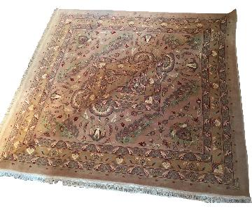 Hand Knotted Silk & Wool Blended Persian Carpet