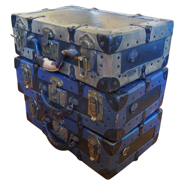 Antique Salesman's Suitcases - image-0