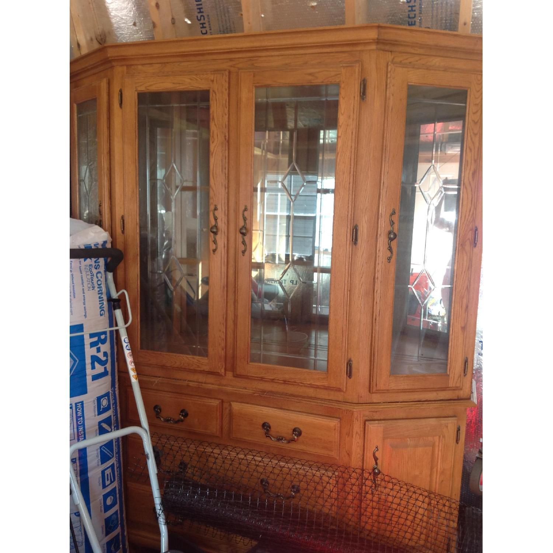 Oak China Cabinet - image-2