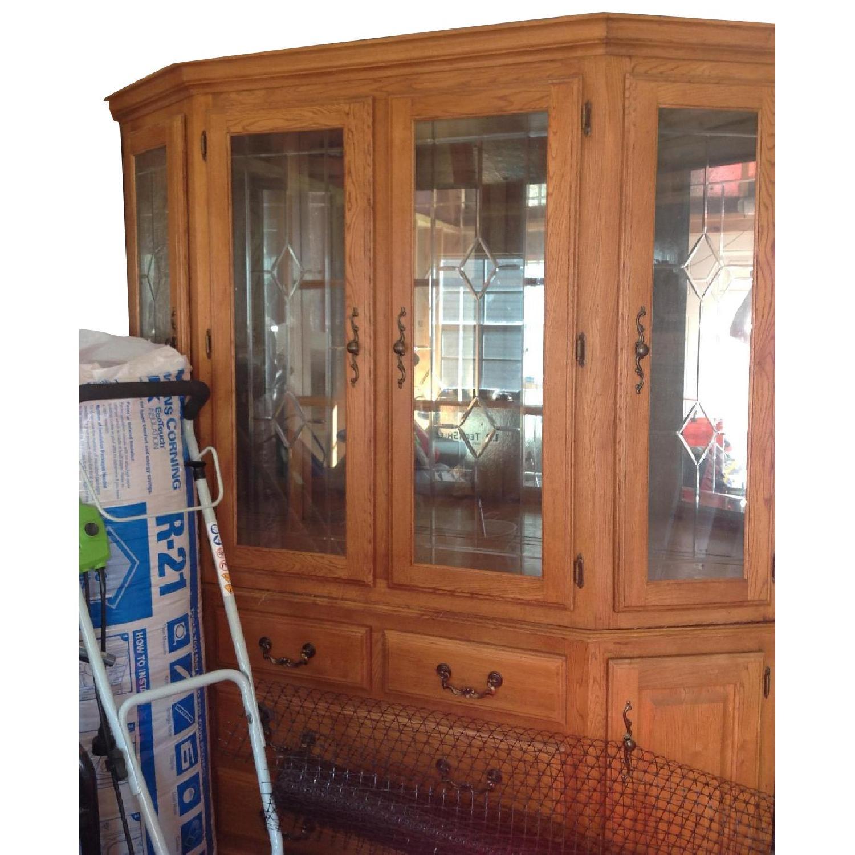 Oak China Cabinet - image-0