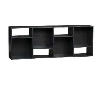 Crate & Barrel Bookcase/Media Shelves/Room Divider