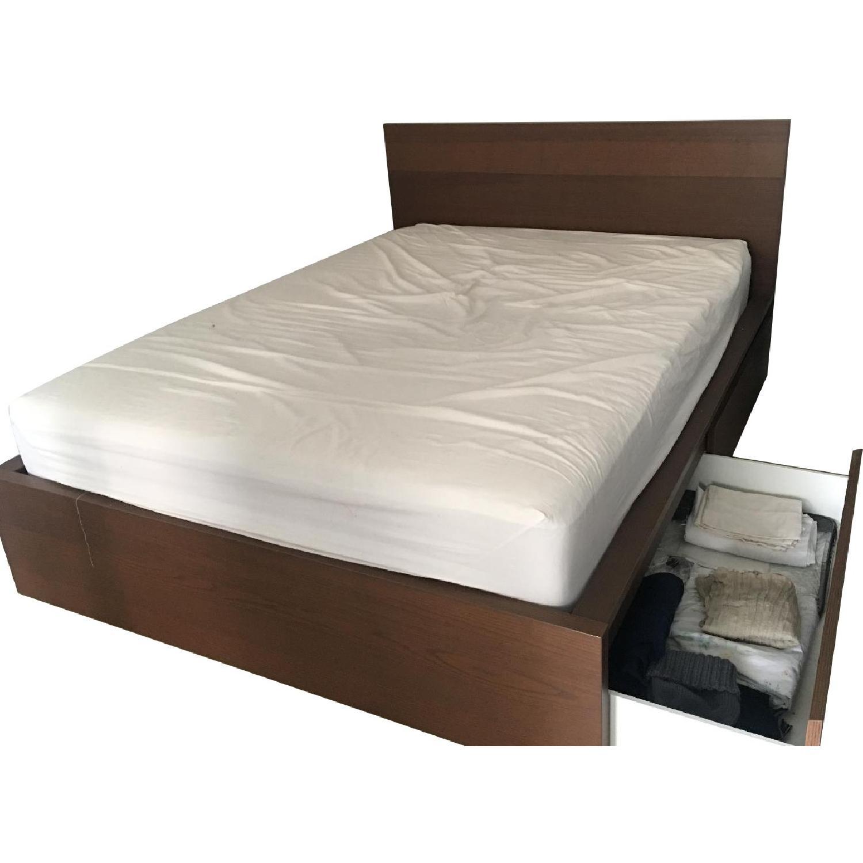 Queen Size Bed Frame W Storage Aptdeco