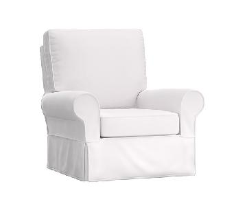Pottery Barn Comfort Swivel Chair