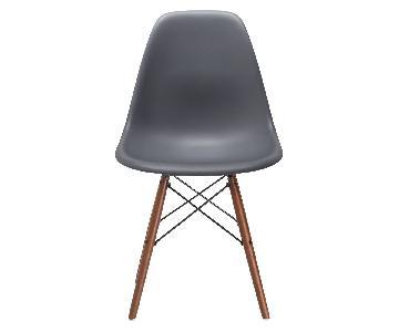 Poly and Bark Grey Vortex Side Chair w/ Walnut Legs