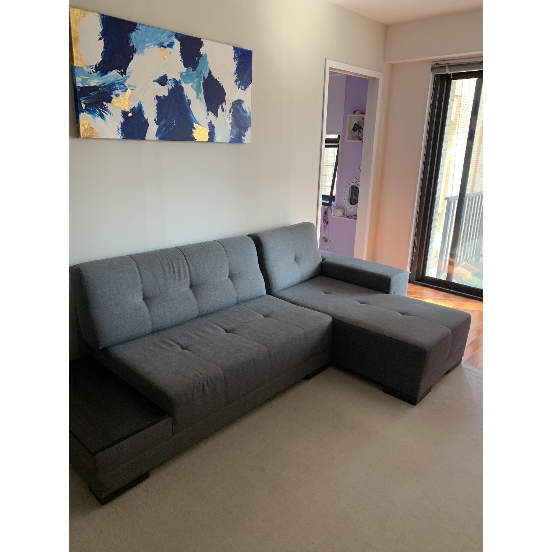 Lazzoni Budka Sleeper Sectional Sofa - image-1