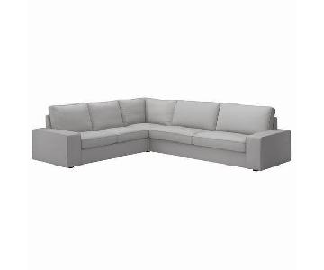 Ikea Kivik Gray Fabric Sectional Sofa