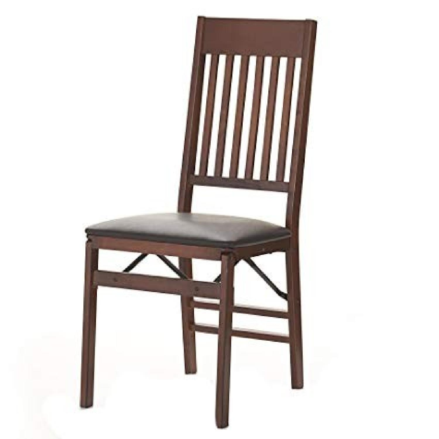 Linon Home Decor Mission Back Wood Folding Chairs - image-0