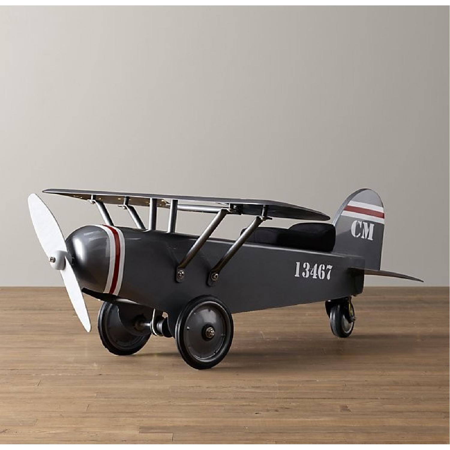 Restoration Hardware Baby and Child Vintage Army Plane Scoot-0