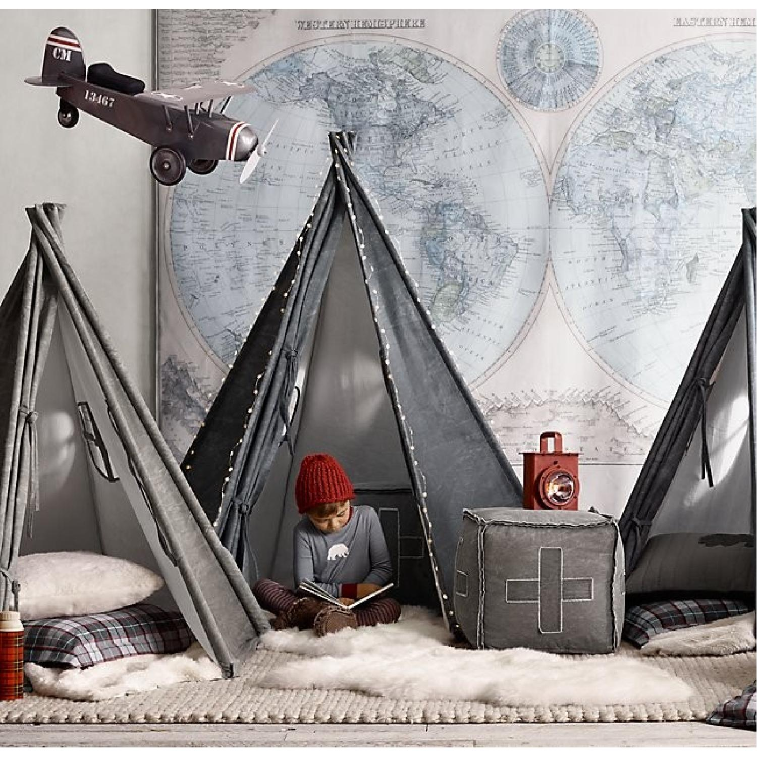 Restoration Hardware Baby and Child Vintage Army Plane Scoot-1