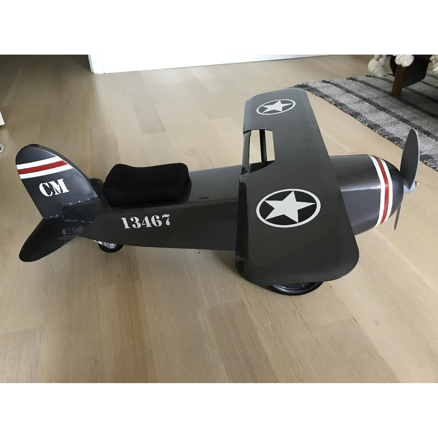 Restoration Hardware Baby and Child Vintage Army Plane Scoot-3