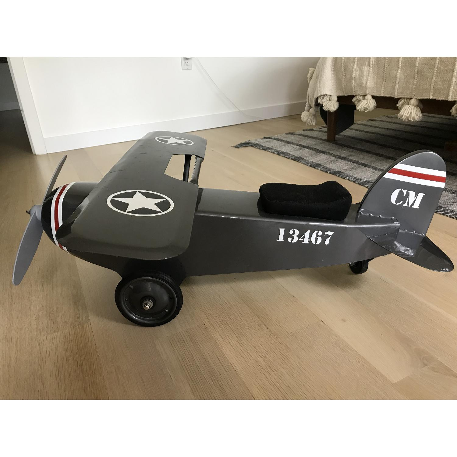 Restoration Hardware Baby and Child Vintage Army Plane Scoot-4