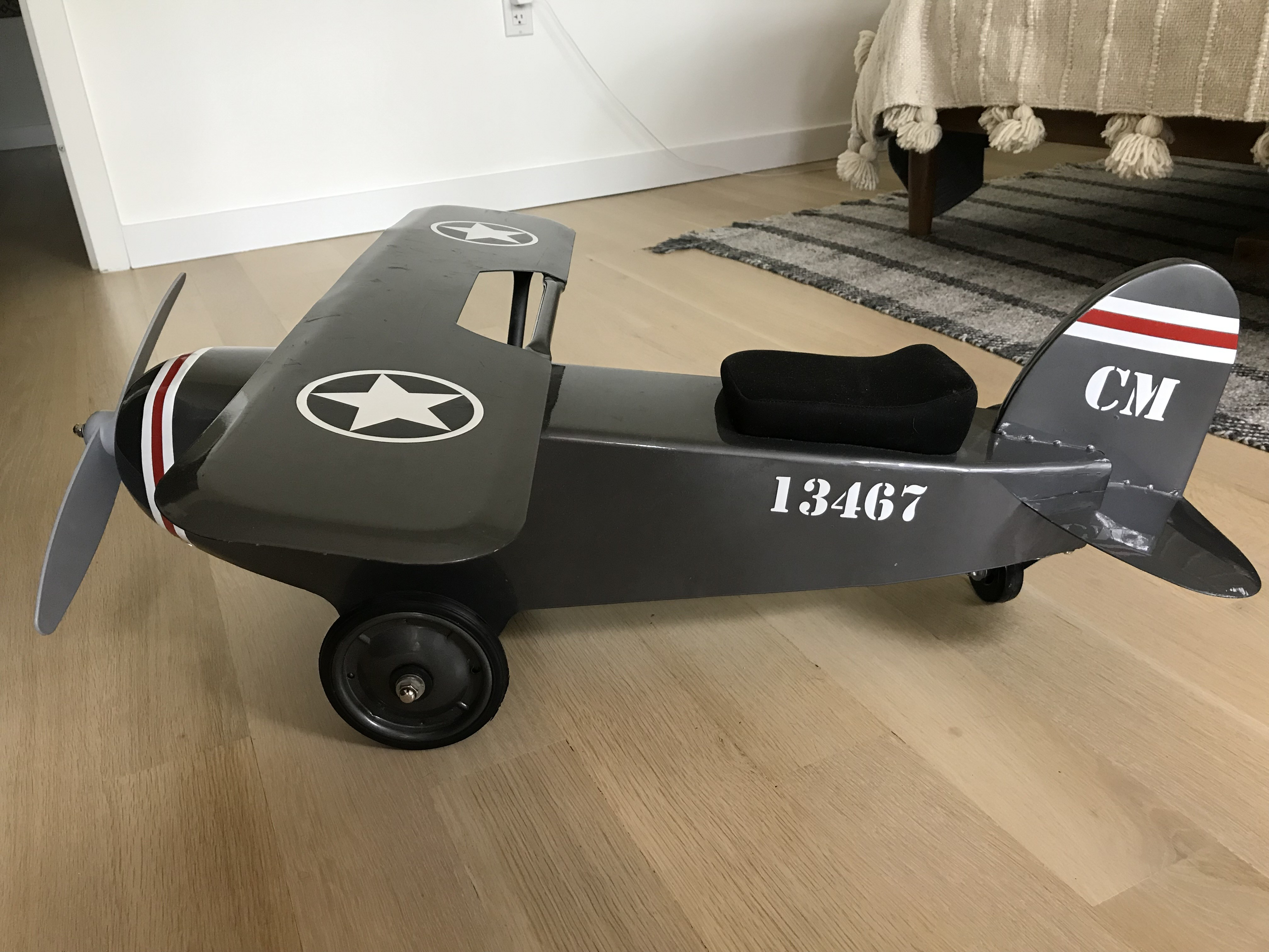 Restoration Hardware Baby and Child Vintage Army Plane Scoot