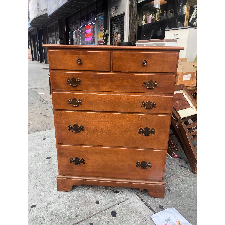 Ethan Allen Vintage Mid Century Solid Maple & Birch Dresser - image-2