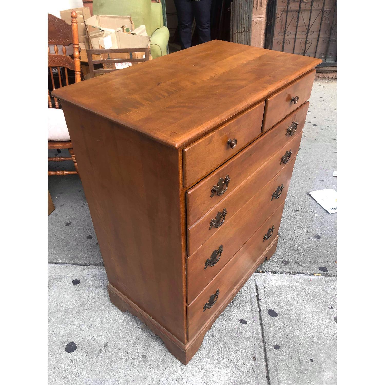 Ethan Allen Vintage Mid Century Solid Maple & Birch Dresser - image-4