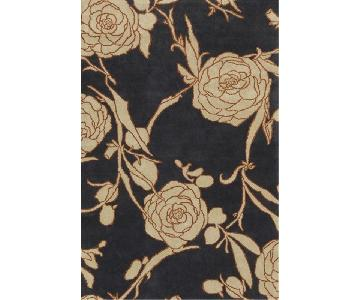 Crate & Barrel Floral Patterned Rug