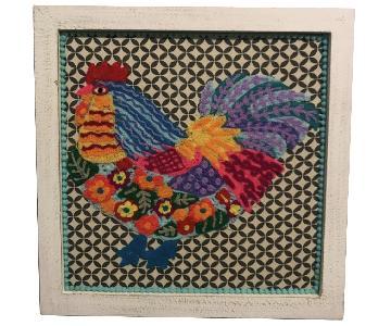 Framed Embroidered Animals