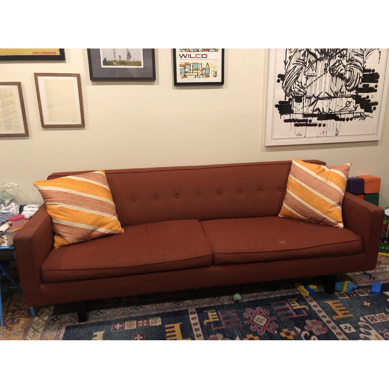 Room & Board Dark Red Sofa