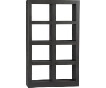 Crate & Barrel Shadow Box Bookcase