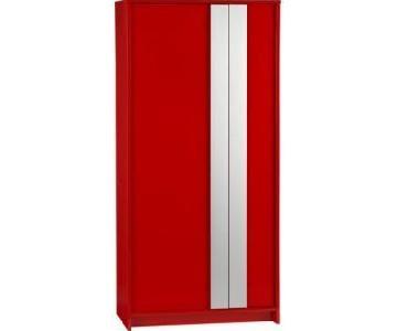 CB2 Monolith Red Wardrobe in Hi Gloss Finish
