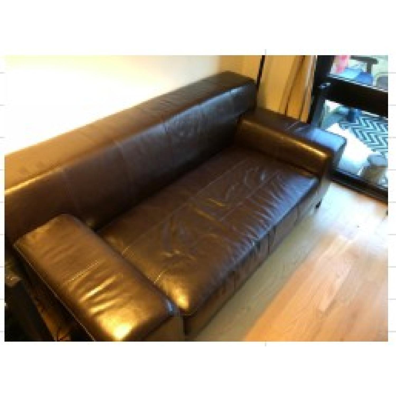 Ikea Faux Leather Sofa - image-1