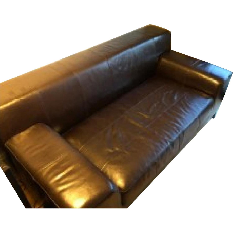 Ikea Faux Leather Sofa - image-0