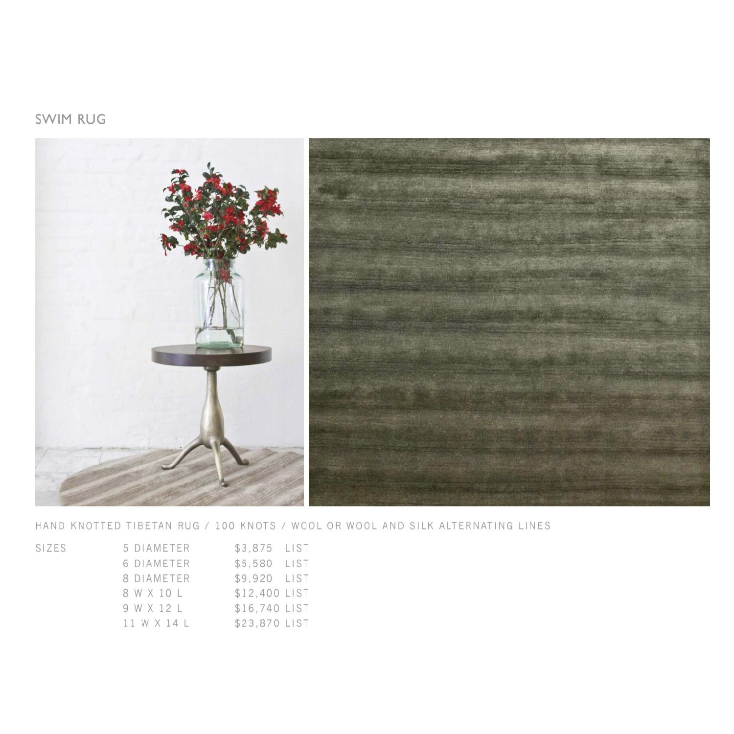 BDDW Ridged Swim Wool & Silk Area Rug - image-4