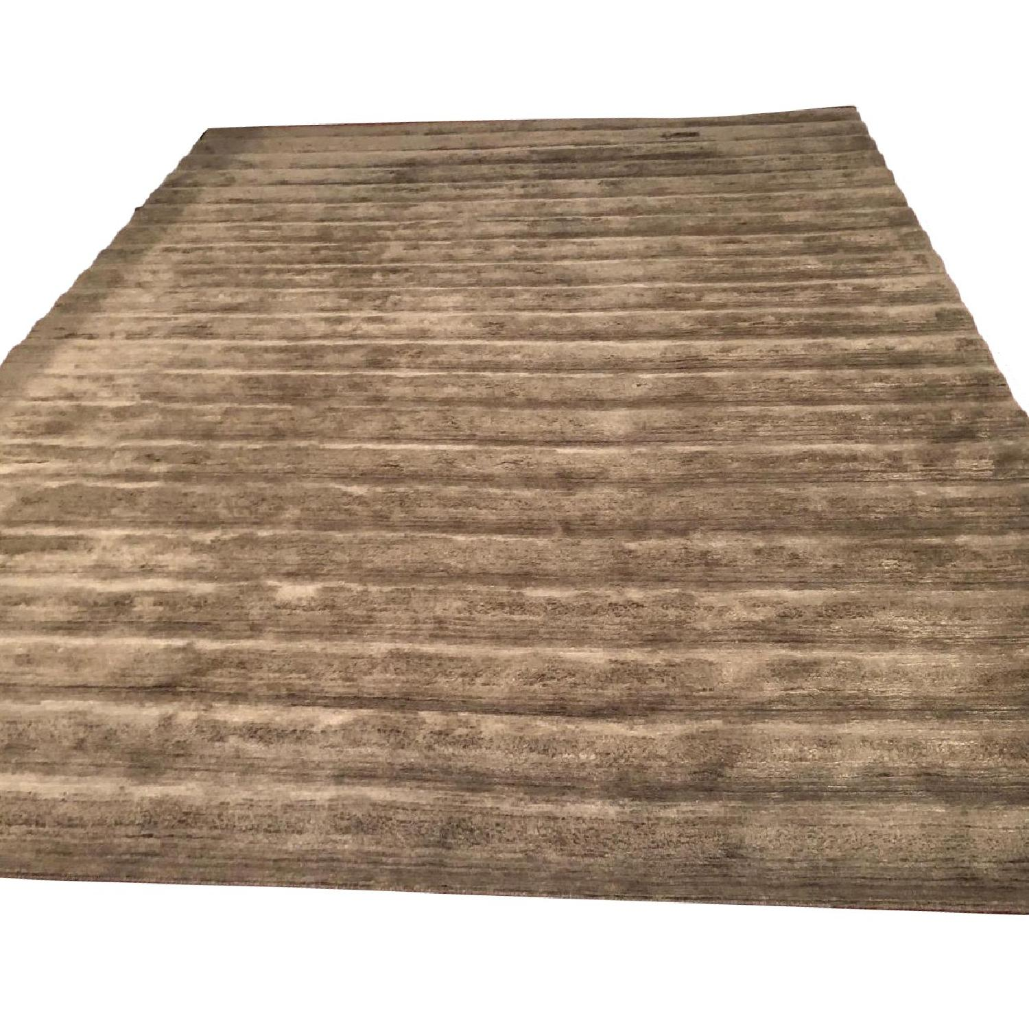 BDDW Ridged Swim Wool & Silk Area Rug - image-0