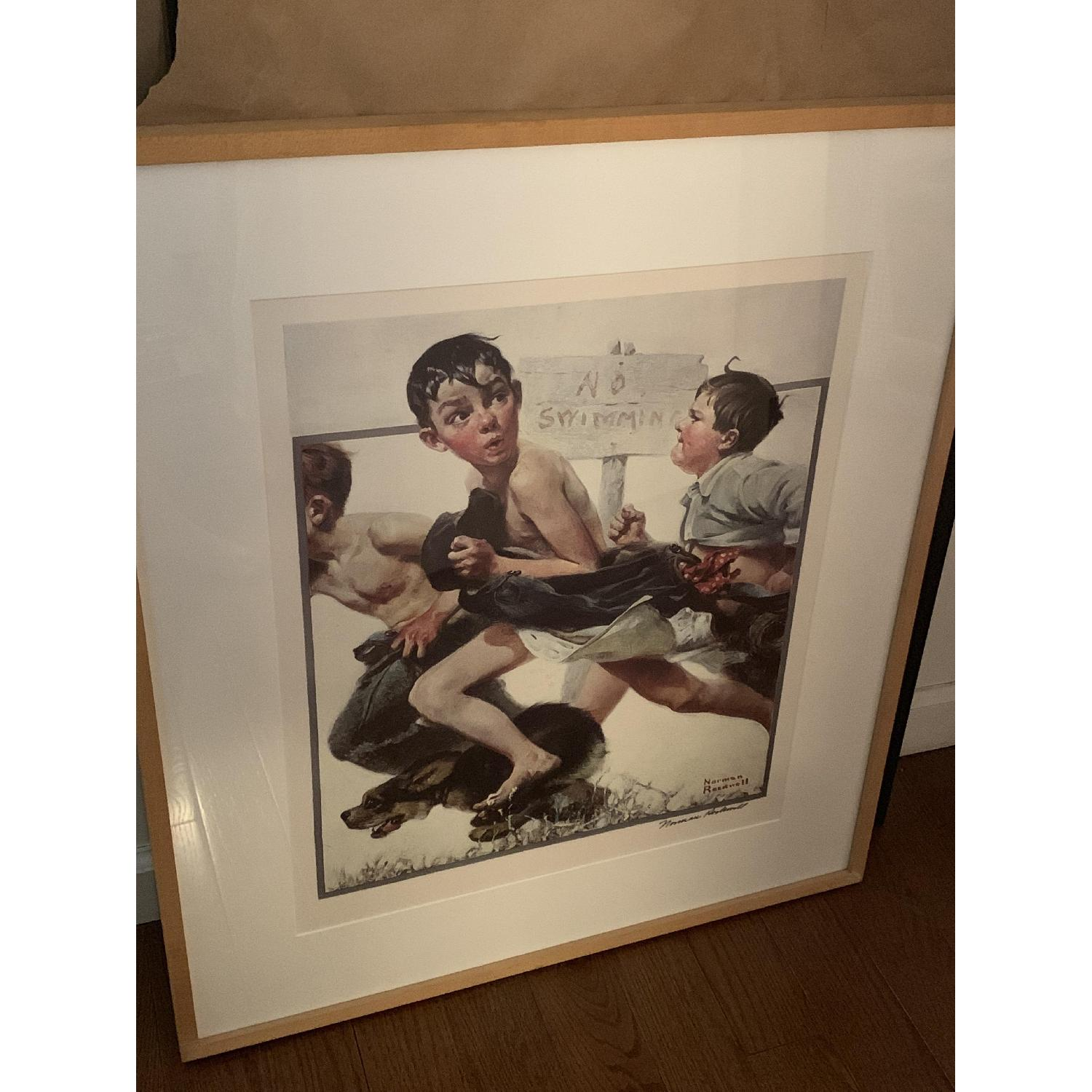 Signed Norman Rockwell Print - image-1
