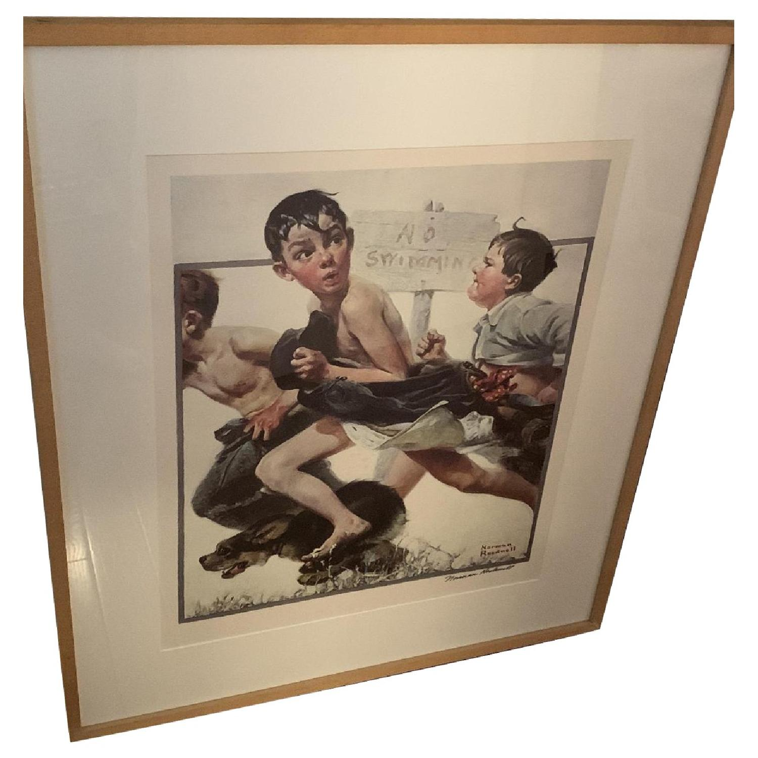 Signed Norman Rockwell Print - image-0