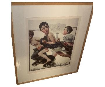 Signed Norman Rockwell Print