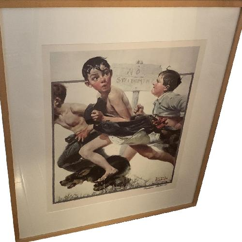 Used Signed Norman Rockwell Print for sale on AptDeco