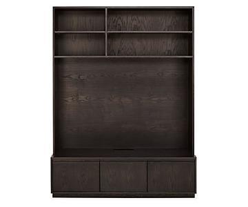 Room & Board Keaton Charcoal Media Bookcase