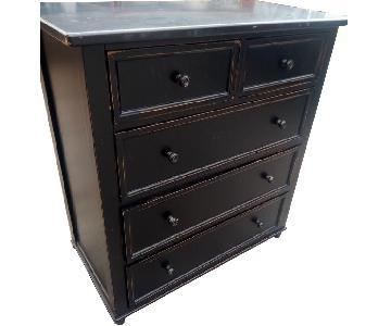 Crate & Barrel Black Wood Dresser