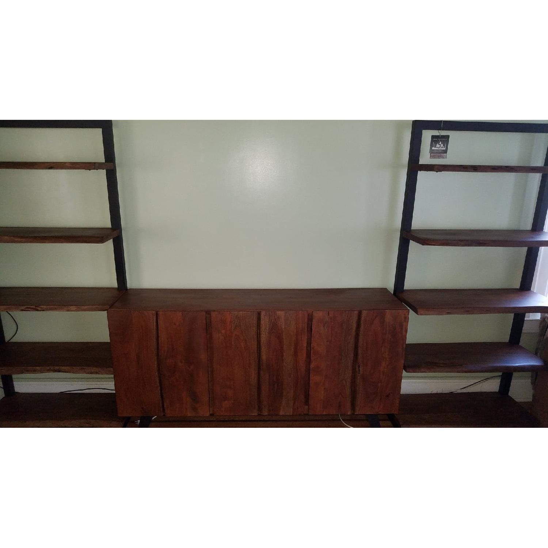 Jadu Accents Dining Room Acacia wood 3 Piece Wall Unit - image-1