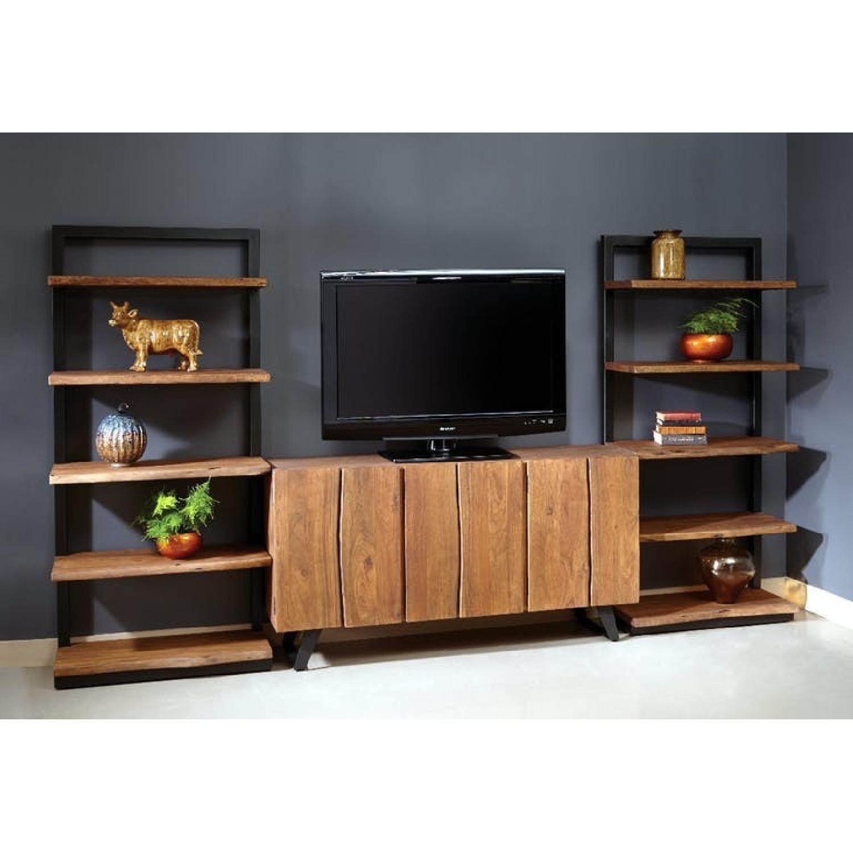 Jadu Accents Dining Room Acacia wood 3 Piece Wall Unit - image-8