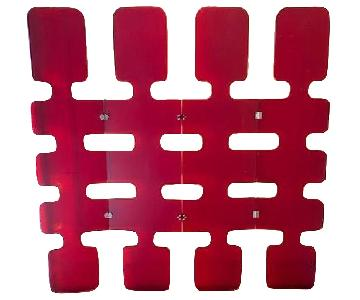 Art Deco Style 4-Panel Plastic Room Divider