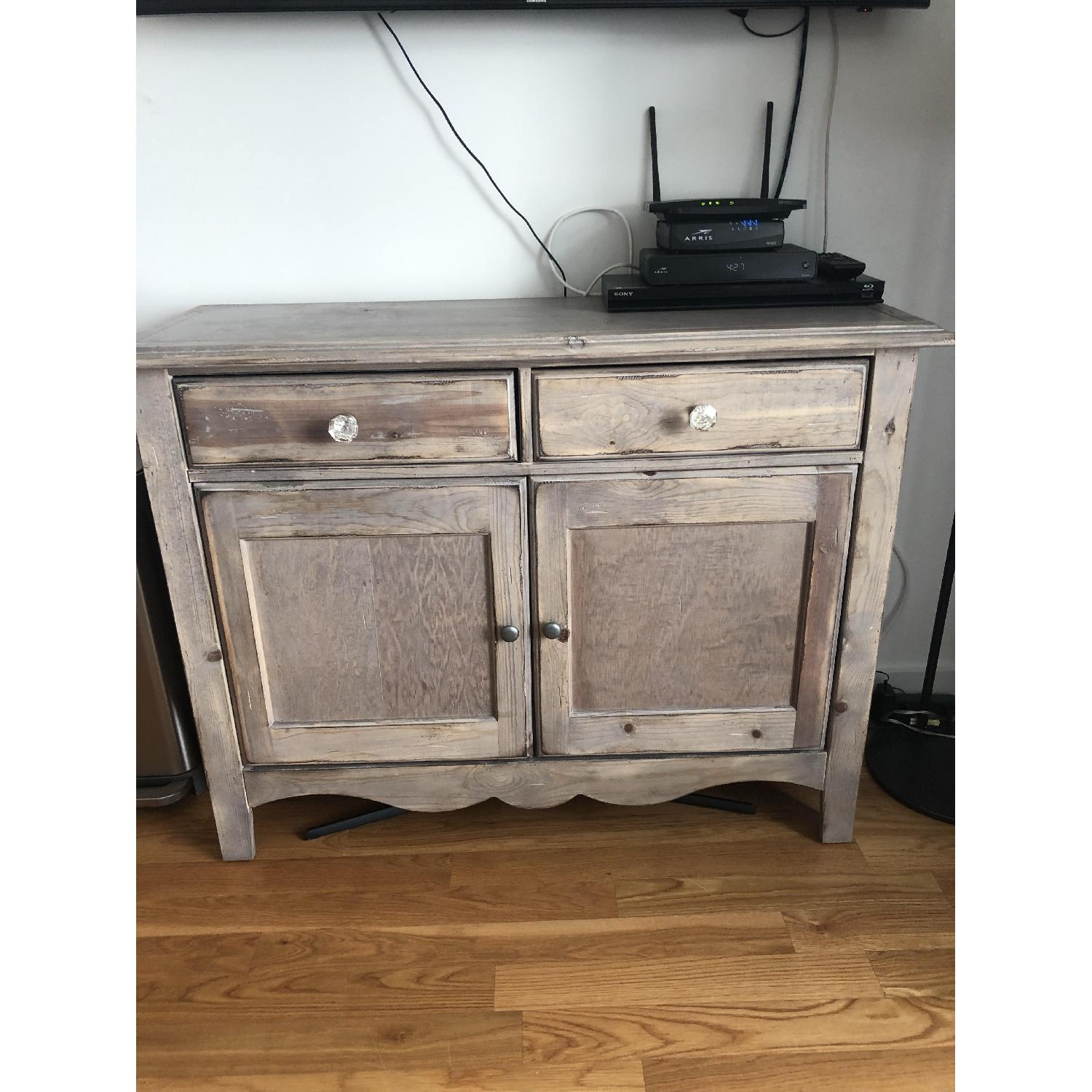 Distressed Wood Buffet/Media Storage