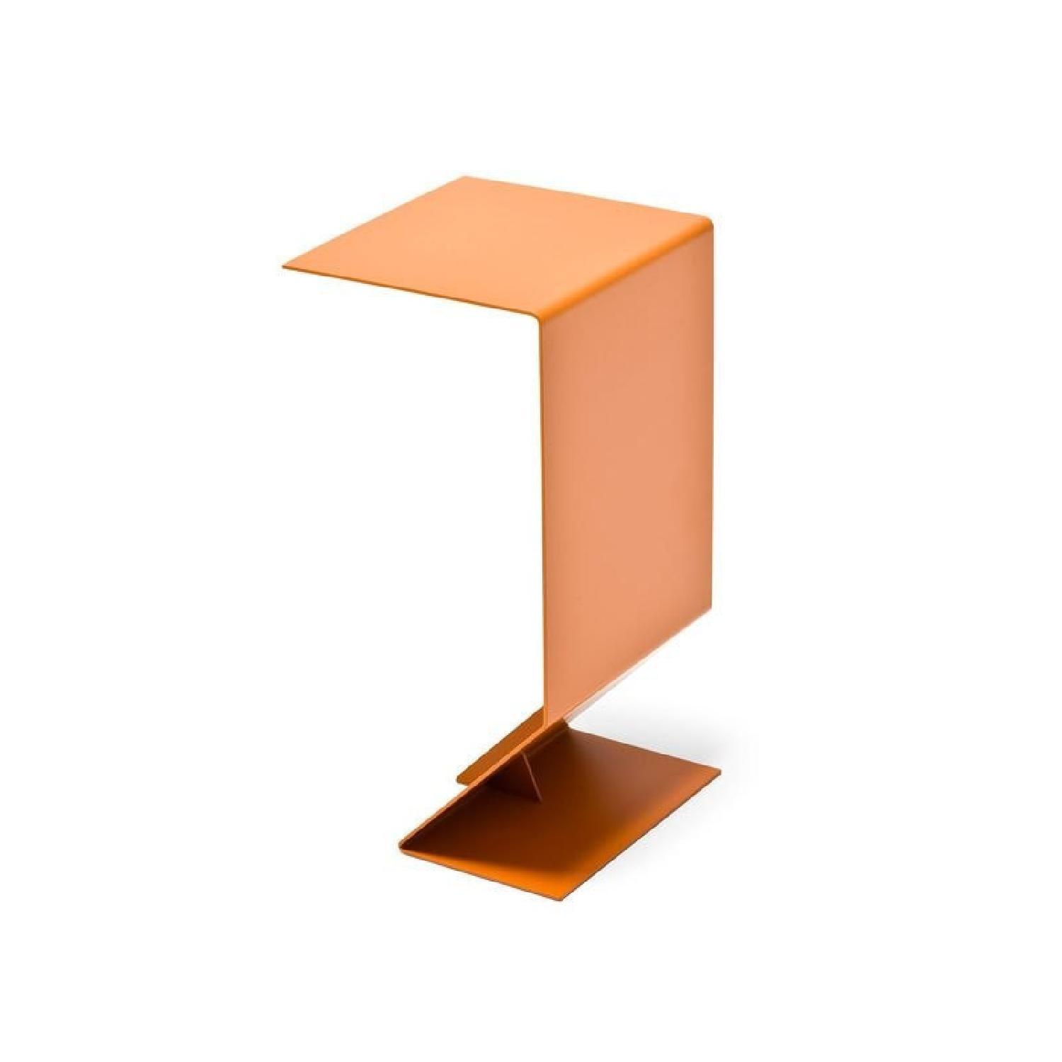 Moroso Contemporary Orange Steel Side Table