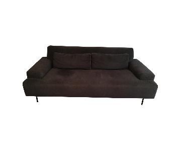 West Elm Charcoal Velvet Sofa