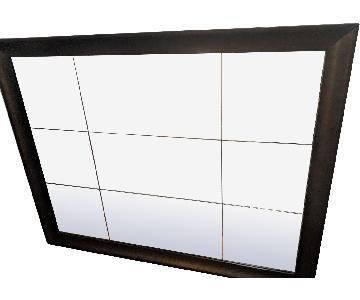 Large Mirror w/ Black Frame