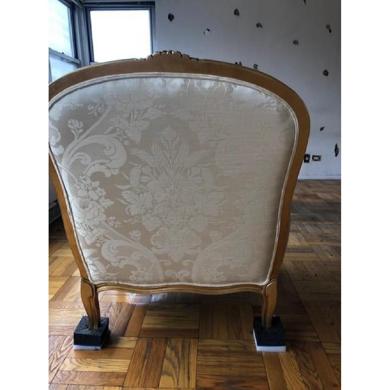 Ethan Allen Vintage Cream White French Chair - image-3