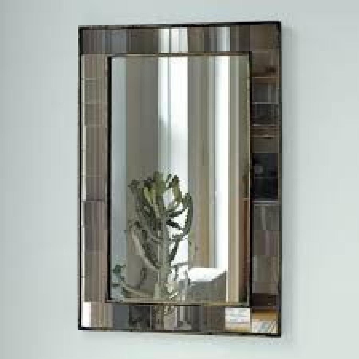 West Elm Antique Tiled Wall Mirror - image-1